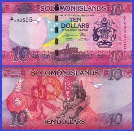 Poze Solomon Islands 2017 - 10 dollars, necirculata