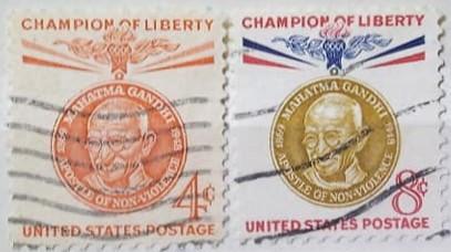 Statele Unite 1961 - Mahatma Gandhi, serie stampilata
