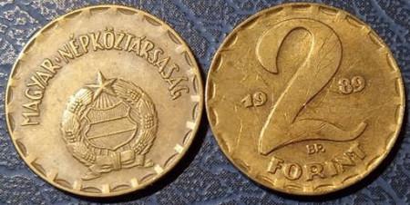 Ungaria 1989 - 2 forint, circulata