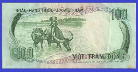 Vietnam Sud 1972 - 100 dong, circulata