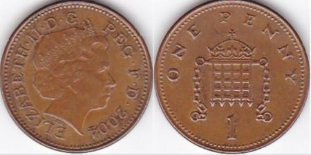 Anglia 2004 - 1 penny, circulata