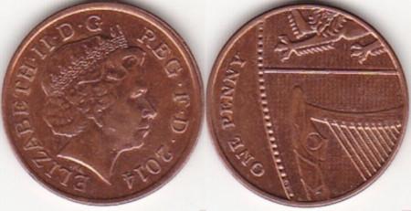 Anglia 2014 - 1 penny, circulata
