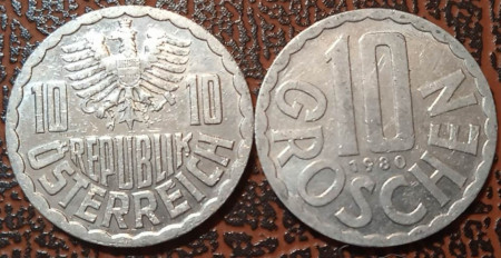Austria 1980 - 10 groschen, circulata