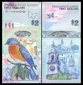 Bermuda 2009 - 2 dollars, necirculata, hibrid