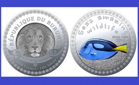 Burundi 2014 - 5000 francs, proof (Regal tang)