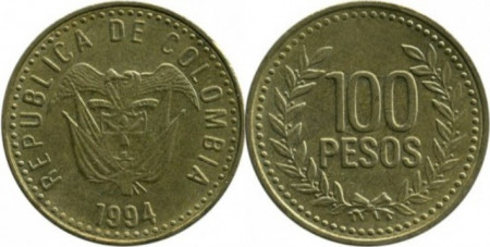 Columbia 1994 - 100 pesos, circulata