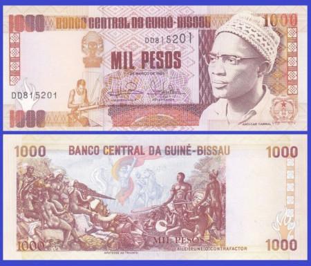 Guinee-Bissau 1993 - 1000 pesos, necirculata