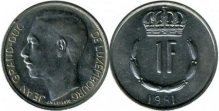 Luxemburg 1981 - 1 franc, circulata