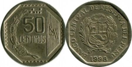 Peru 1998 - 50 céntimos, circulata