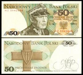 Polonia 1988 -  50 zloty, necirculata