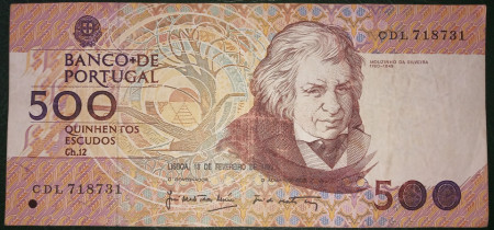 Poze Portugalia 1987 - 500 escudos, circulata