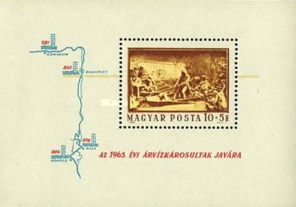 Ungaria 1965 - Ajutor pentru inundații, colita neuzata