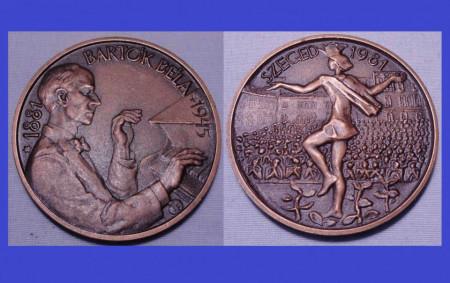 Ungaria 1981 - medal comemorativ Bartok Bela(1881-1945), Szeged