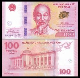 Vietnam 2016 - 100 Dong UNC, comemorativa