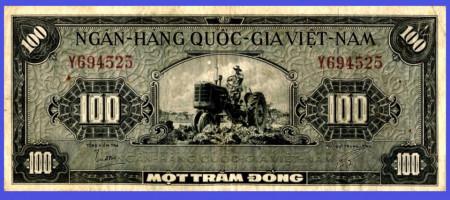 Vietnam Sud 1955 - 100 dong, circulata