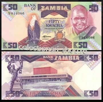 Zambia 1986 - 50 kwacha, necirculata
