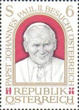 Austria 1983 - Vizită papală în Austria, neuzata