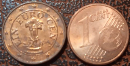 Austria 2005 - 1 eurocent, circulata