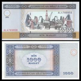 Azerbaidjan 2001 - 1000 manat, necirculata