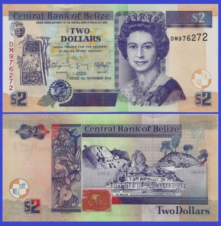 Belize 2014 - 2 dollars, necirculata