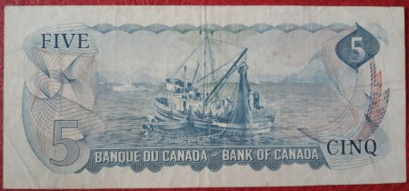 Canada 1972 - 5 dollars, circulata