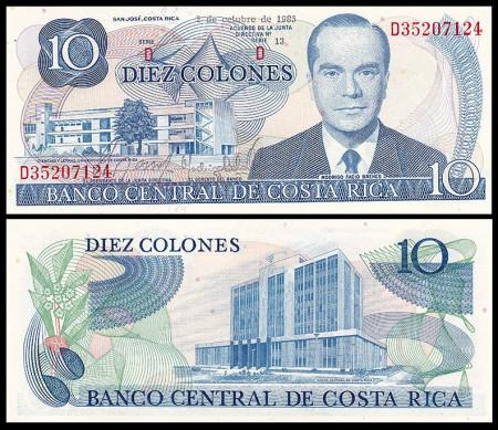 Poze Costa Rica 1985 - 10 colones, necirculata