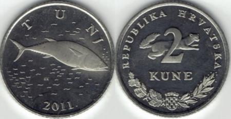 Croatia 2011 - 2 kuna, circulata