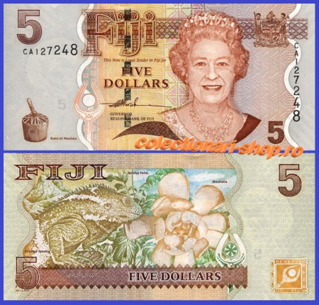 Fiji 2007 - 5 dollars, necirculata