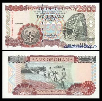 Ghana 2000 - 2000 cedis, necirculata