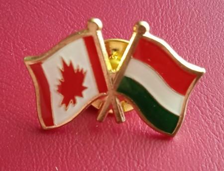 Insigna cu steagurile Canada si Ungaria