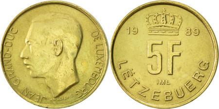 Luxemburg 1989 - 5 franci, circulata