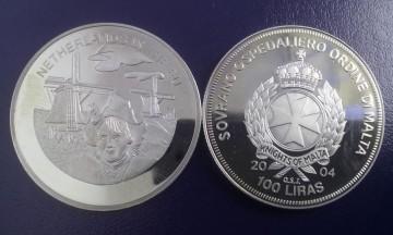 Malta 2004 - 100 lire, proof - Olanda in UE