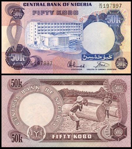 Nigeria 1978 - 50 kobo, necirculata