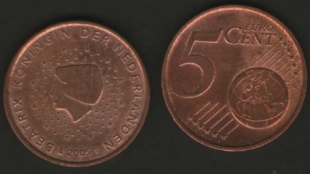 Olanda 2005 - 5 eurocent, circulata