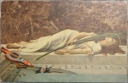 Pictura de Etienne Gautierr - Sf. Cecile, vedere litho Stengel 29011