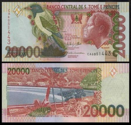 Sao Tome 2013 - 20.000 dobras, necirculata