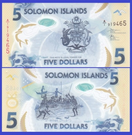 Solomon Islands 2019 - 5 dollars, necirculata