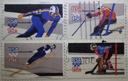 Statele Unite 1980 - J.O. Lake Placid, serie stampilata