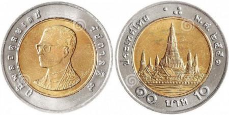 Thailanda 1999 - 10 baht UNC, bimetal