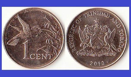 Trinidad and Tobago 2012 - 1 cent UNC