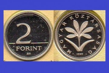 Ungaria 1999 -    2 forint, circulata