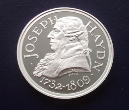 Ungaria 2009 - Joseph Haydn (1732-1809), medal argint Proof