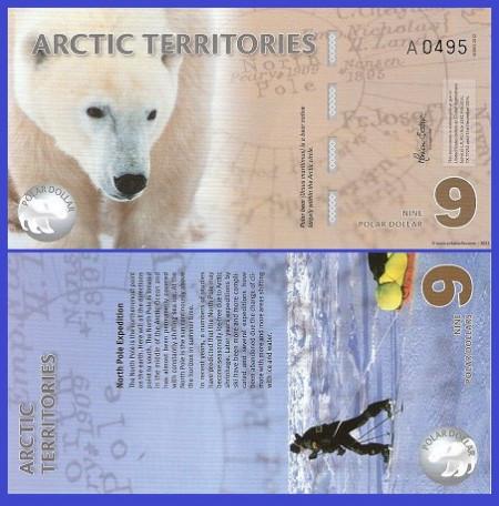 Antarctica 2012 - 9 dollars, necirculata