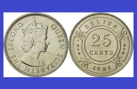 Poze Belize 1981 - 25 cents UNC