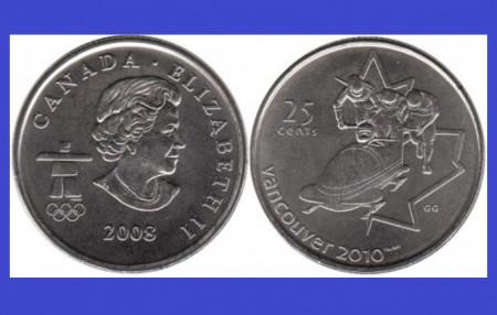 Canada 2008 - 25 centi aUNC, J.O. Vancouver - bob