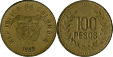 Columbia 1995 - 100 pesos, circulata