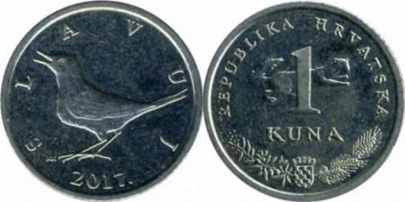 Croatia 2017 - 1 kuna, circulata