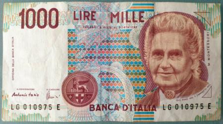 Italia 1990 - 1000 lire, circulata