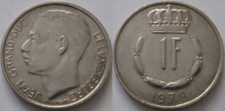 Luxemburg 1978 - 1 franc, circulata