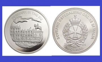 Malta 2004 - 100 lire, proof - Danemarca in UE